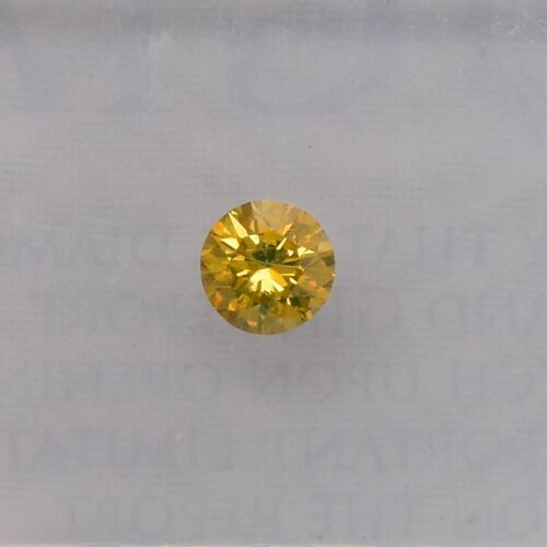 0.15 Carat Fancy Brownish Orangy Yellow Loose Diamond Natural Color Round GIA