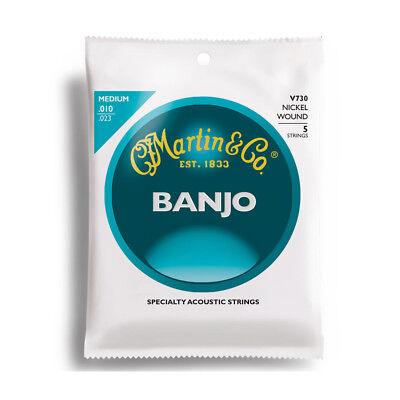 Martin V730 Vega Banjo 5 String Nickel Wound Medium 10-23 for sale  Brookfield