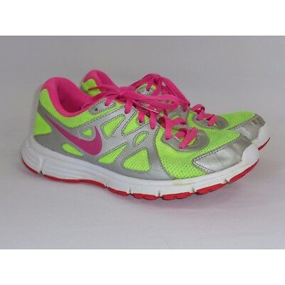 big sale fea94 f065a NIKE REVOLUTION 2 Running Shoes US 5.5Y Neon Yellow   Pink (555090-761)