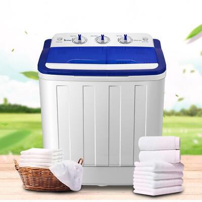 Portable 16LBS Compact Washing Machine Mini Twin Tub Washer