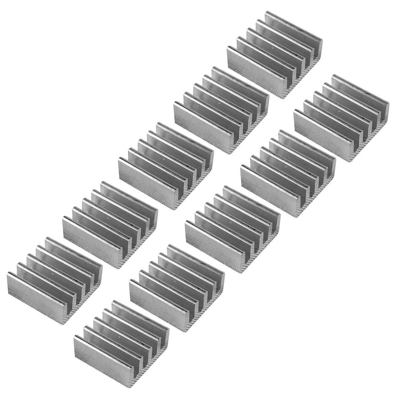 Aluminum Kühlkörper Heatsink für GPU, VRAM, IC, LED (10-Pack) - 11*11*5mm