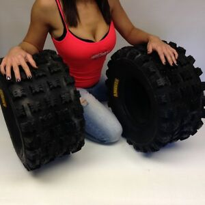HONDA-TRX-450R-2004-2009-PAIR-2-20x10-9-AMBUSH-SPORT-ATV-TIRES-REAR