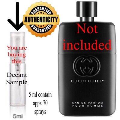 Gucci Guilty Pour Homme Eau De Parfum(2020)...5ml Glass DECANT SAMPLE Spray.