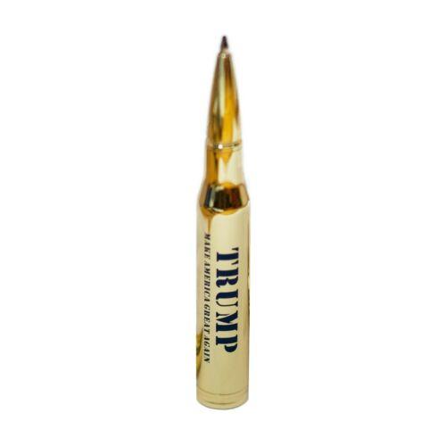 Donald Trump 2020 Collectible Pen 30 Caliber Bullet Brass Color
