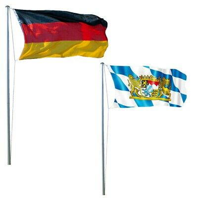 LEX Flagstaff 620 CM Incl. Deutschland- And Bayern-Fahne