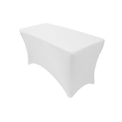 Your Chair Covers 4' Rectangular Fitted Stretch Spandex Tabl