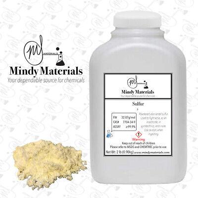 Sulfur Powder 99.9% PURE MIN. 2 Pound Bottle