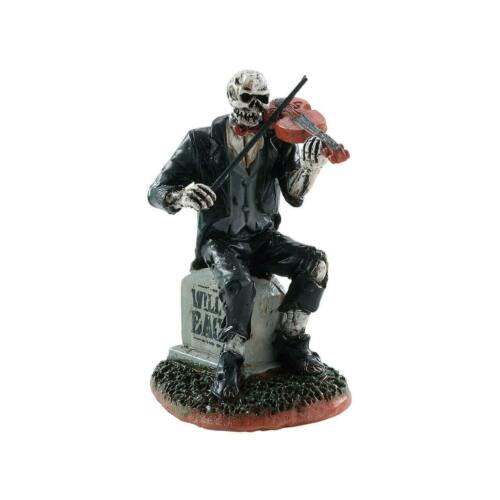 Spooky Town Serenading the Dead Zombie Violin Player by Lemax Halloween