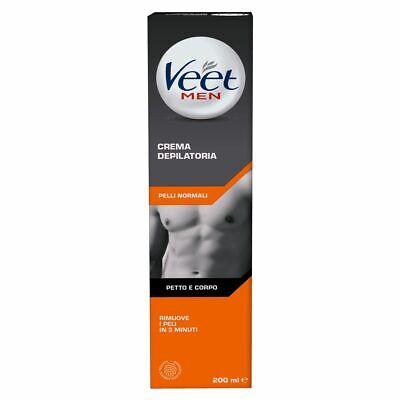 Crema Depilatoria Veet For Men Silk & Fresh Technology per Uomo Doccia - 200 ml