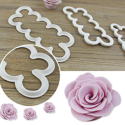 Rose Cutter Cake Mold Fondant 3D Print Cut Cake Baking Decorated Mold Safe Clean