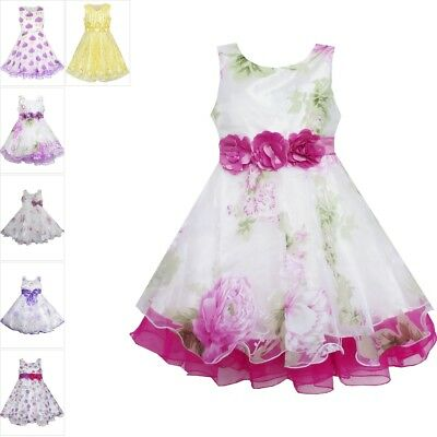 Flower Girl Dress Tulle Bridal Lace With Flower Detailing Wedding Size 4-14 (Flower Girl Dress With Lace)