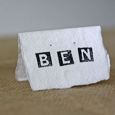 20 x Handmade Paper Place Cards (7.5 cm x 10 cm) Natural Torn Edges