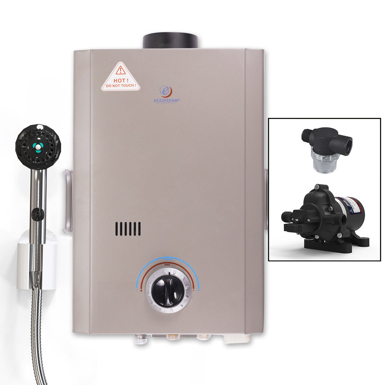 2 GPM 2019 Rain Man L6 Portable Tankless Water Heater Outdoor Shower LPG