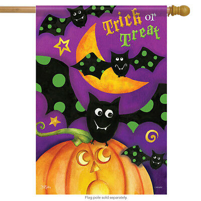 Trick or Treat Bats House Flag Halloween 28