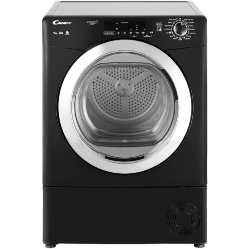 Candy GVSC9DCGB Grand'O Vita B Rated 9Kg Condenser Tumble Dryer Black