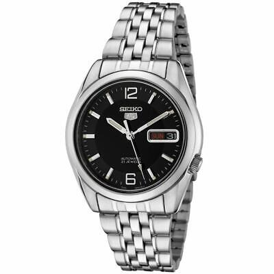 Seiko 5 SNK393 Automatic Black Dial Stainless Steel 21 Jewels Men Watch SNK393K1