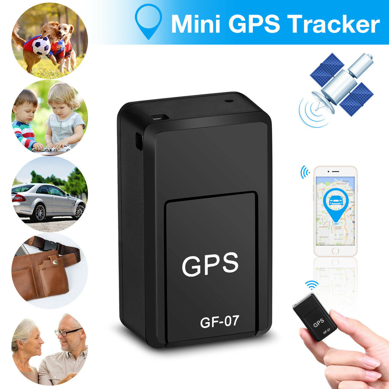 Mini GPS Tracker Anti-theft Device Smart Locator Voice Stron