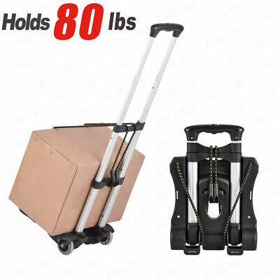 Hot Aluminum Folding Portable Luggage Cart Lightweight Travel Hand Truck