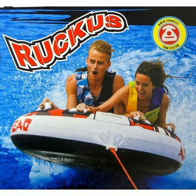 Airhead 2 Rider Person Inflatable Water Towable Sportsstuff Deck Tube Boat Lake