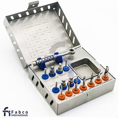 Surgical Drill Kit With Universal Torque Wrench 10.50ncm Dental Implant