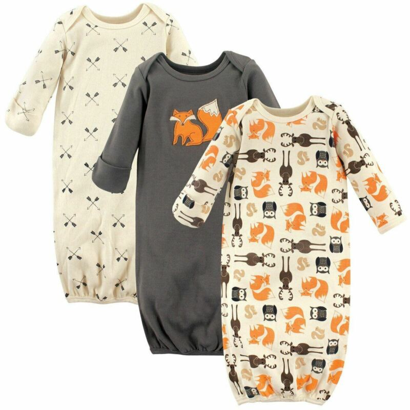 Hudson Baby Boy Sleep Gowns, 3-Pack, Forest