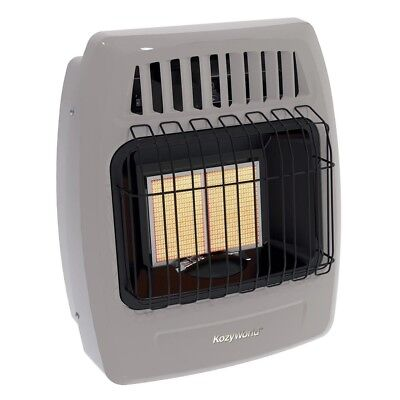 Kozy World Dual Fuel Vent Free Infrared Wall Heater 12,000 BTU LP Natural (Infrared Vent Free Gas Heater)
