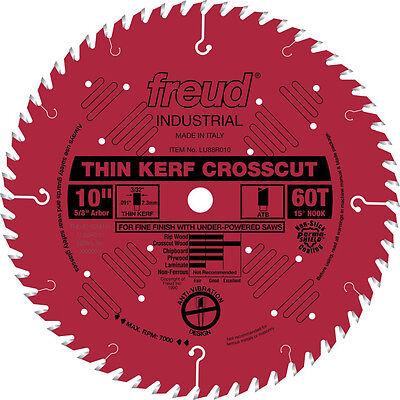 Freud LU88R010 Industrial 10-inch 60T ATB Thin Kerf Crosscutting Saw Blades