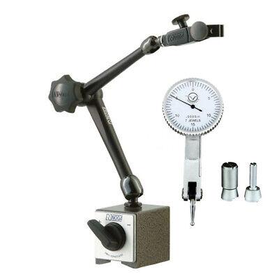 Noga Dg61003 180lb 3d Magnetic Base 0.3 Travel Dial Test Indicator Set