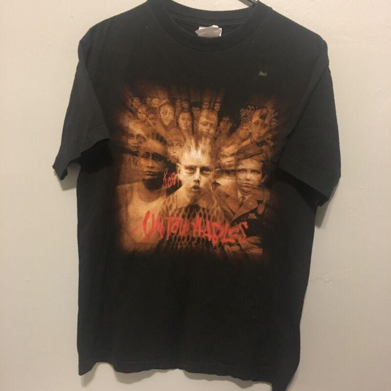 Vintage Korn Untoutchables Tour 02 T-Shirt Sz M
