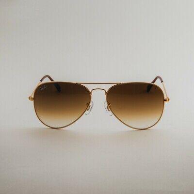 RAY-BAN Sunglasses Aviator Gold Frame Brown Gradient Lenses RB3025 001/51 (Brown Gradient Lens)