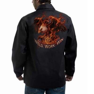 Tillman 9063 30 9 Oz. Onyx Fr Cotton Jacket Weld.work.win Logo Large