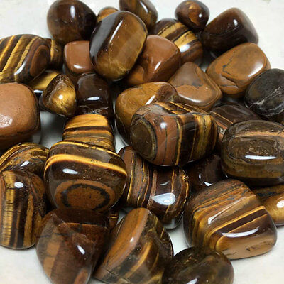 5kg  Natural Tiger's eye gravel polishing degaussing stone fish tank decoration
