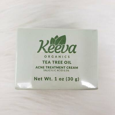 Keeva Organics Acne Treatment Cream With Secret TEA TREE OIL For Acne Scars 1oz.