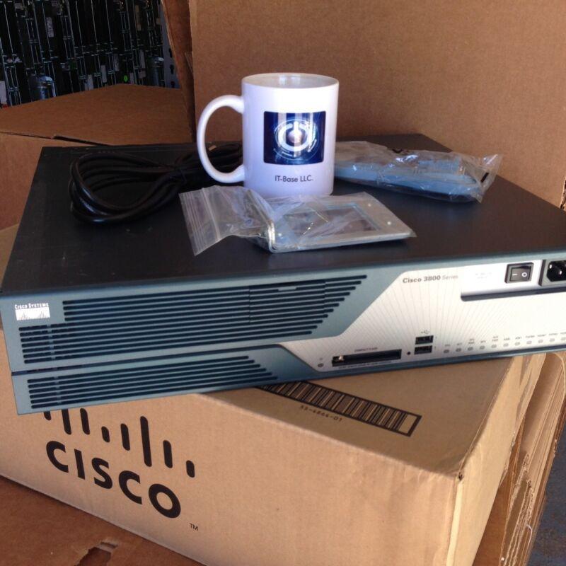 C3825-vsec-srst/k9 Cisco3825 Vsec Srst Bundle Router W/ Pvdm2-64, Adv Ip Serv