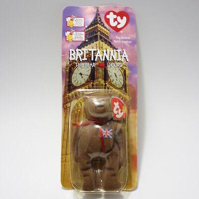 TY McDonald's Britannia the Bear Beanie Baby 1999 New in Box FREE FAST SHIP