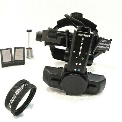 Wireless Indirect Opthalmoscope Rechargeable 20d Lens With Case Accessories