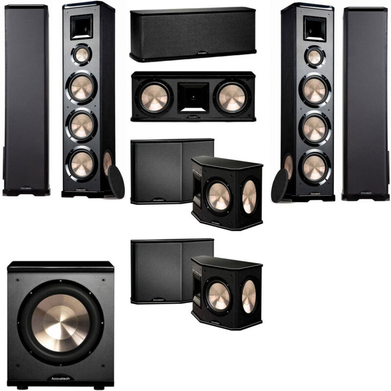 Bic Acoustech Pl-980 7.1 Home Theater System Pl-200ii Sub