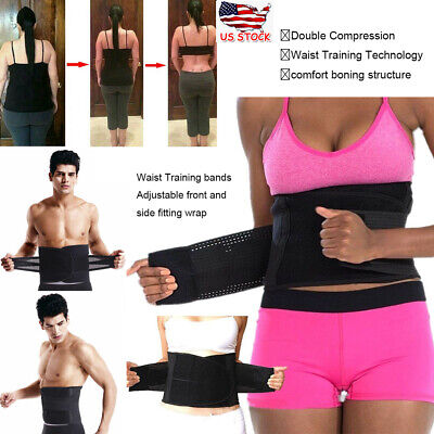Men Women Best Waist Trainer Sauna Sweat Thermo Yoga Sport Shapewear Belt