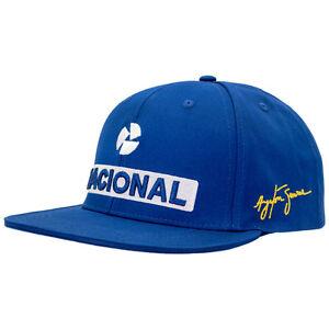 Ayrton-Senna-Flat-Brim-Cap-Nacional-Senna-Kollektion-blau