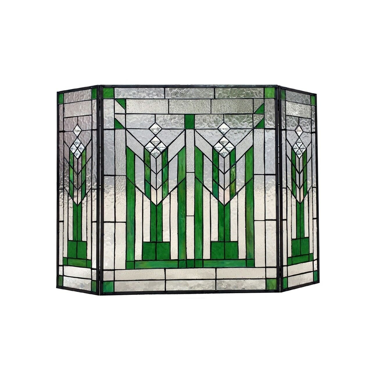 Stained Glass Fireplace Screen Victorian Design Tiffany Styl