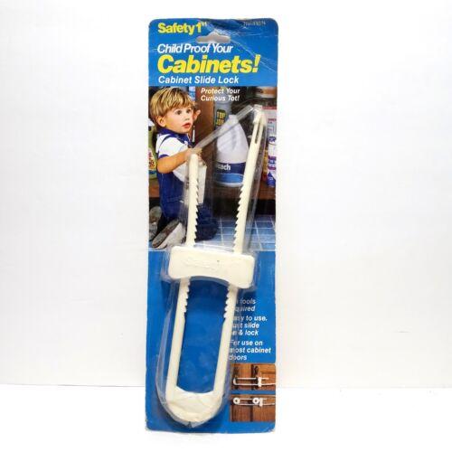 Vintage Safety 1st - Child/Baby/Toddler Proof Cabinet Slide Lock (110N) NOS