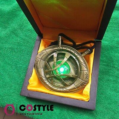 1 1 Dr Doctor Strange Led Light Necklace Eye Of Agamotto Amulet Cosplay Pendant