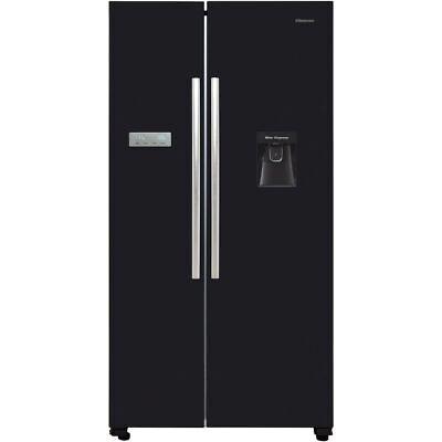 Hisense RS741N4WB11 91cm Frost Free American Fridge Freezer Black