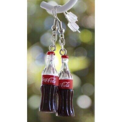Coca Cola  miniature resin  earrings  , funny gag gift Coke enthusiast