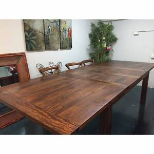 """Hamilton"" Solid Hardwood Timber Extension Dining Table 210-310cm"