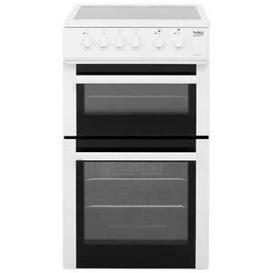 Beko BDC5422AW Free Standing Electric Cooker with Ceramic Hob 50cm White New
