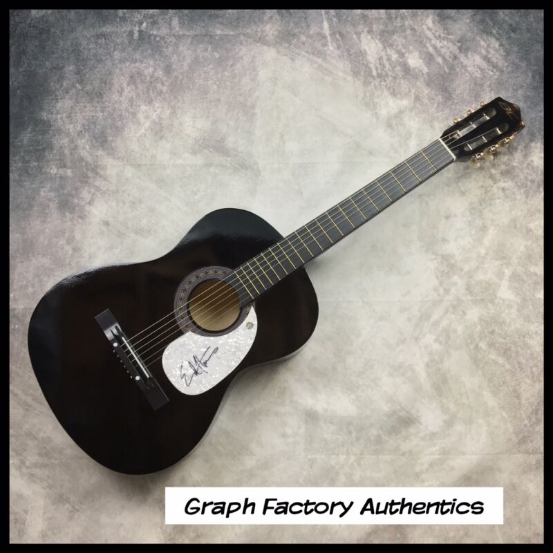 GFA The Office Andy * ED HELMS * Signed Acoustic Guitar AD1 PROOF COA