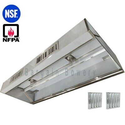 8 Ft Restaurant Commercial Kitchen Exhaust Hood Make Up Air Supply Air Type I