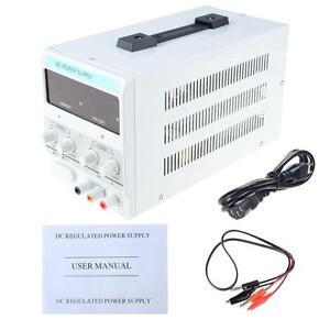 DC Power Supply 30V 10A 220V Precision Variable Digital Adjust Cable White EPYG