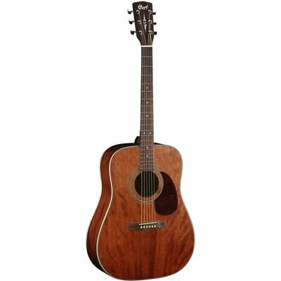 Cort Earth70MH Solid Mahogany Top Dreadnought Acoustic Guitar, Open Pore
